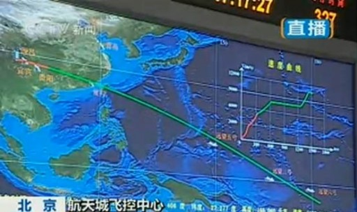 Chang'e 2 Ascent Profile - Image: CCTV
