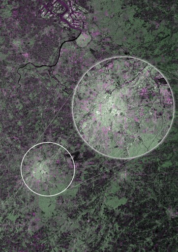 Sentinel-1A Image of Brussels & surroundings - Image: ESA