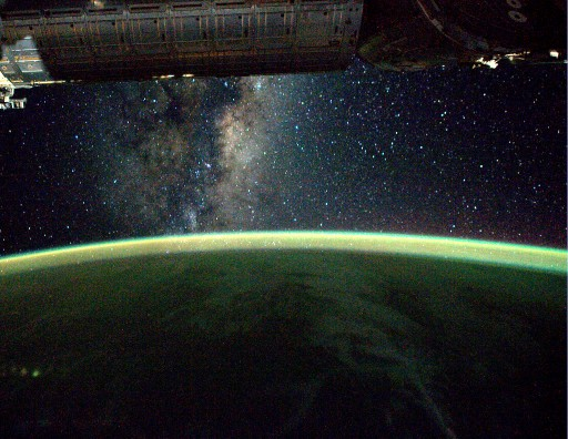 Milky Way seen from ISS - Photo: NASA/ESA