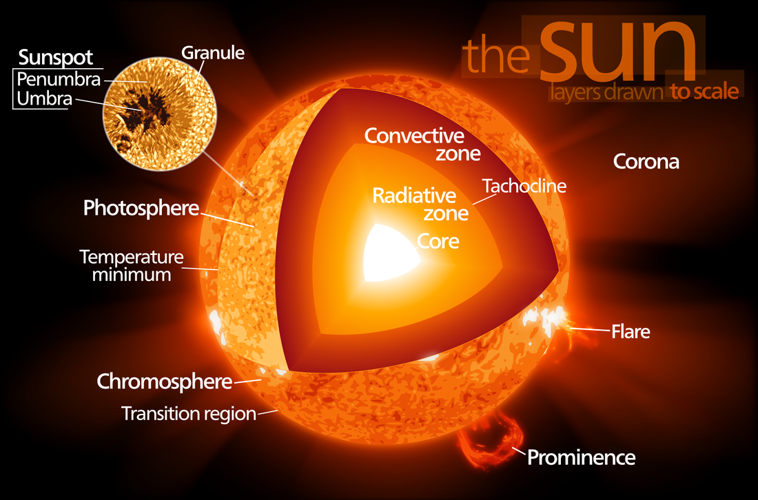 The structure of the Sun - Image: Wikimedia - User: Kelvinsong