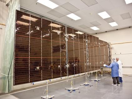 One of Juno's three massive Solar Arrays - Photo: NASA/JPL