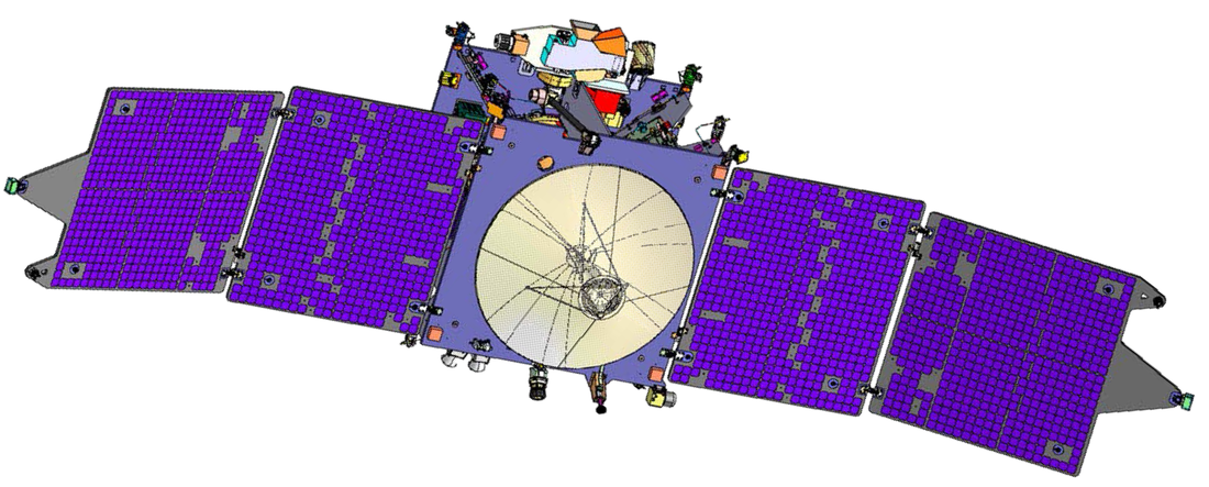 MAVEN Cruise Configuration - Image: NASA/LASP