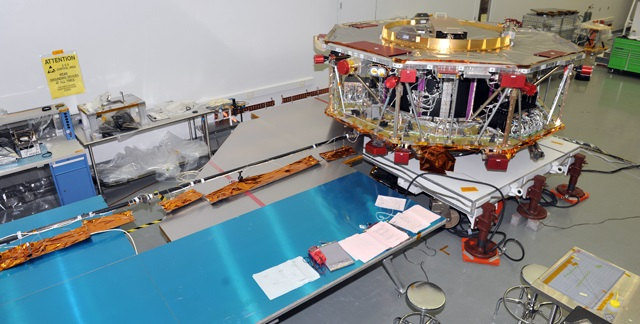 Magnetometer Boom during Test Deployment  - Photo: NASA Goddard