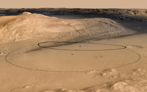 MSL Landing Ellipses - Smaller Ellipse = Landing Target - Image: NASA - JPL