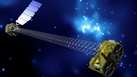 Artist's illustration of NuSTAR in Orbit - Image: JPL/Caltech
