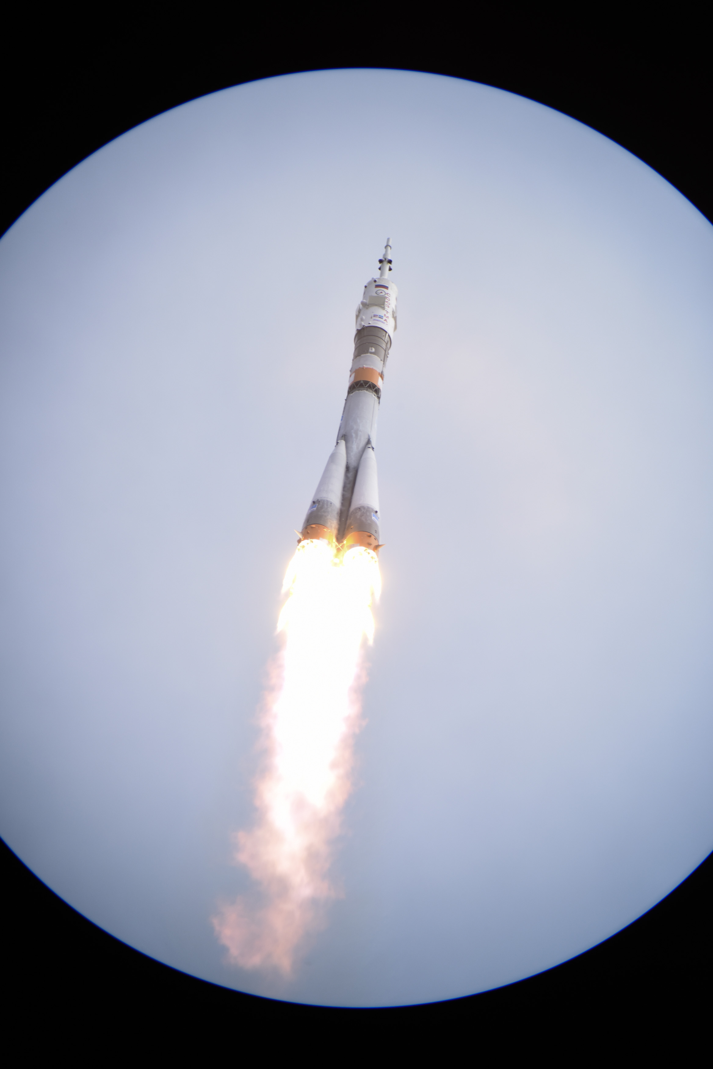 Photos Soyuz Rocket Thunders Off With Next ISS Crew