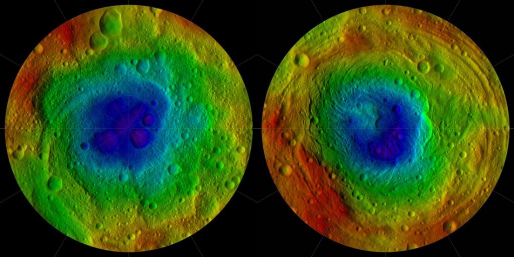 Vesta's Topography - Image: NASA/JPL-Caltech/UCAL/MPS/DLR/IDA/PSI