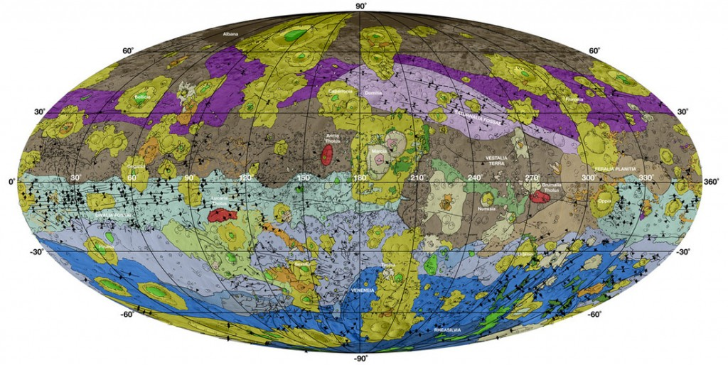 Geologic Map of Vesta - Image: NASA/JPL-Caltech/ASU