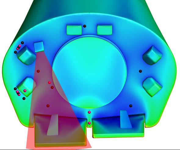 Image: ESA/ASI/RUAG/Thales Base Area Sensors & Steering Flap Instrumentation