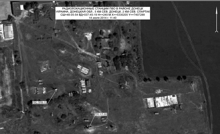 Image: Russian Ministry of Defence Donetsk Area, Ukraine, imaged by Persona-2 in July 2014