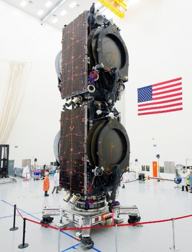 Eutelsat 115 West B & ABS 3A Stack - Photo: Boeing