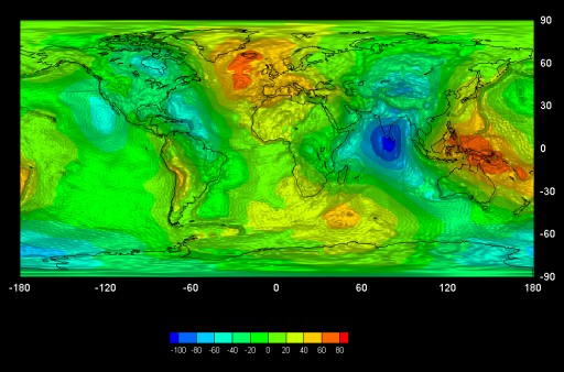 First GOCE Gravity Map - Image: HPF