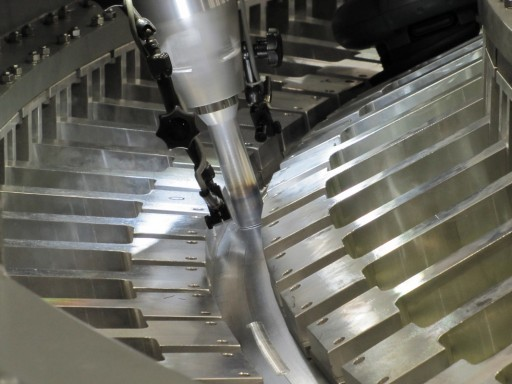 Friction Stir Welding on Orion - Photo: NASA/LM