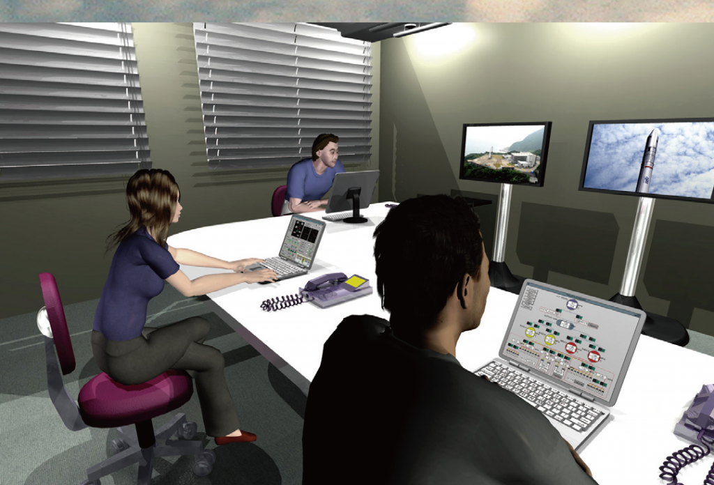 Artist's Concept of the Remote Launch Control Center - Image: JAXA
