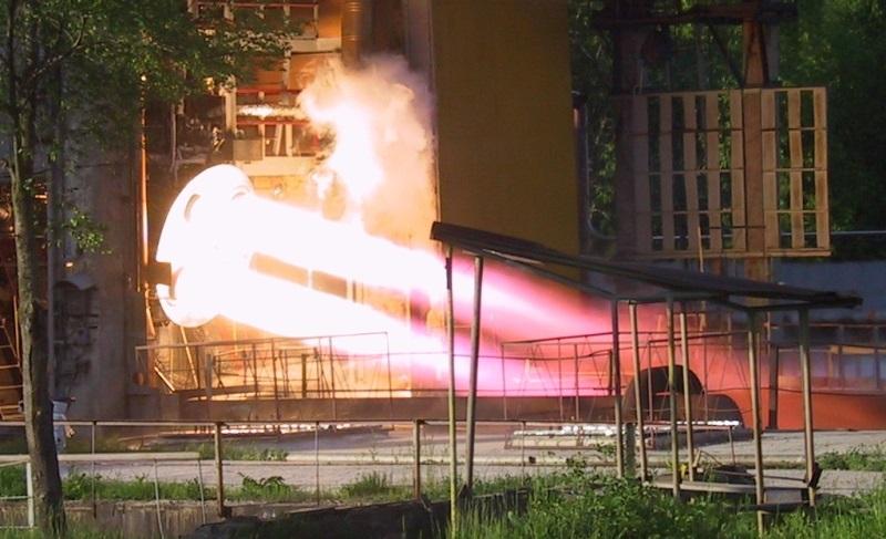RD-0124 Test Firing - Photo: KBKhA
