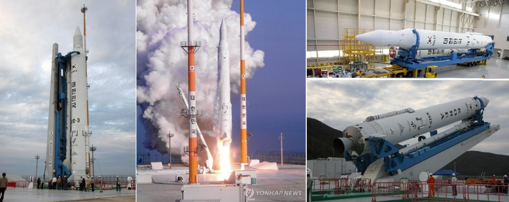 KSLV - 2013 Launch Photos - Credit: Khrunichev/Yonhap News